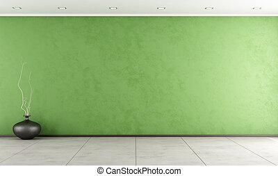 verde, stanza, vuoto