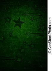 verde, stella, fondo
