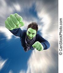verde, superhero