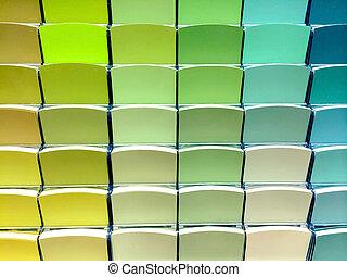 verde, swatches cor, em, um, loja