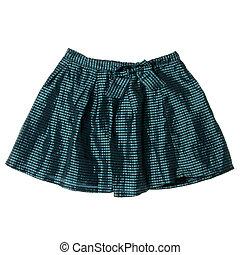 verde, tartán, mini falda