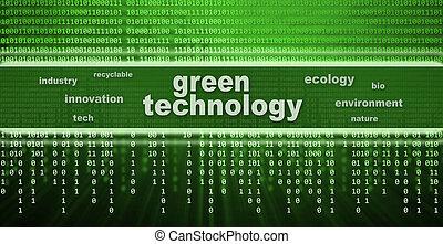 verde, tecnologia, conceito