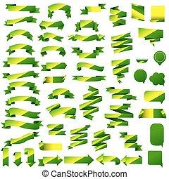 verde, teia, fita, jogo