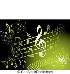 verde, tema, música