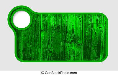 verde, texto, quadro, com, textura madeira