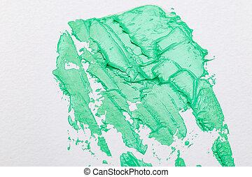 verde, textura, agua, 2020., strokes., menthe, color, pintura
