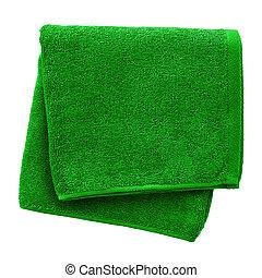 verde, toalha