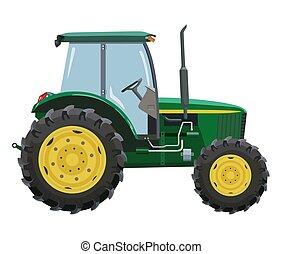 verde, tractor