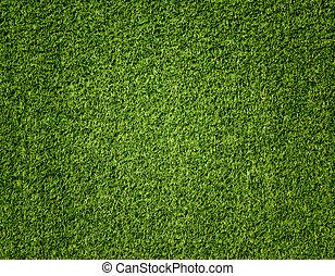 verde, turf artificial, padrão, para, fundo