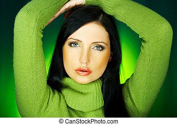 verde, um