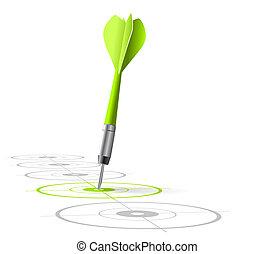 verde, vector, oportunidad, gráficos