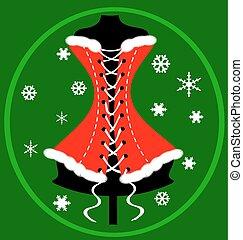 verde vermelho, festivo, colete