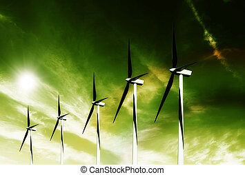 verde, viento