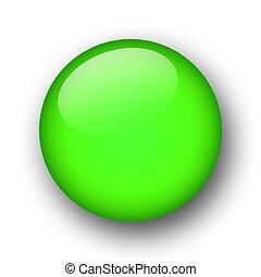 verde, web, bottone