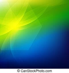verde y azul, naturaleza, plano de fondo