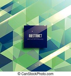 verde y azul, resumen, geométrico, plano de fondo, diseño