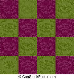 verde, y, flor púrpura, plano de fondo