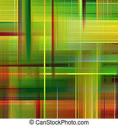 verde, y, naranja, vibrante, colores, resumen, patrón,...