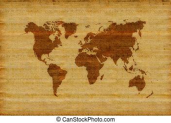 verden, gamle, kort