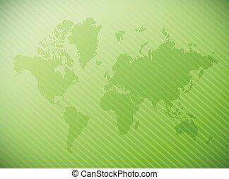 verden, konstruktion, illustration, kort