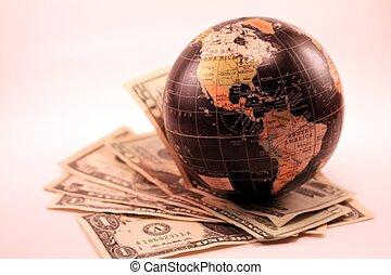 verden marked, global økonomi, handel