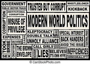 verden, moderne, politik