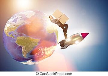 verdensomspændende, globale, fødsel, kvinde, tjeneste