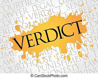 Verdict word cloud