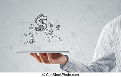 verdienen, jouw, geld, online