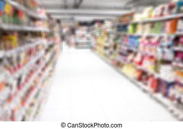 verdoezelen, supermarkt, achtergrond