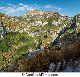 Verdon canyon point of view - The Verdon canyon in France, ...