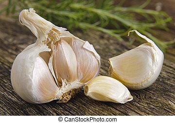 verdura, aglio