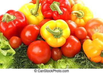 verdura, bianco, isolato