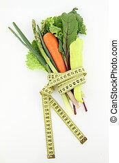 verdura, bianco, isolato, fondo, mazzo