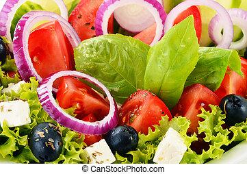 verdura, bilanciato, bowl., insalata, dieta