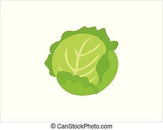 verdura, cavolo, verde, isolato