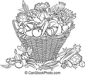 verdura, cesto