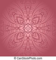 verdura, colore rosa scuro, ornamento, fiore