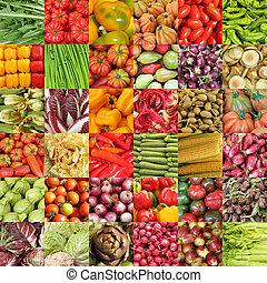 verdura, colorito, fondo