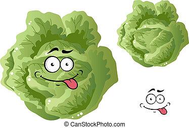 verdura, divertente, cavolo, verde