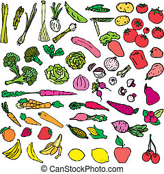verdura, e, frutta