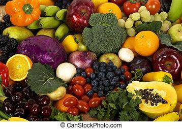 verdura, e, frutte