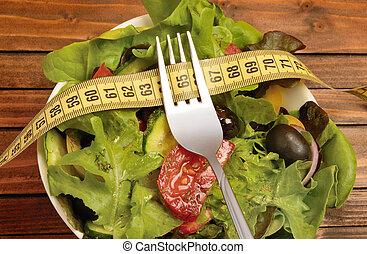 verdura, forchetta, insalata