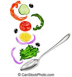 verdura fresca, insalata, vegetariano