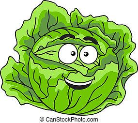 verdura, fresco, cavolo, frondoso, verde