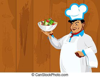 verdura, fresco, vegetariano, insalata