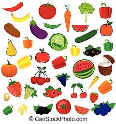 verdura, frutta, illustrazione