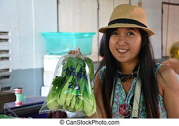 verdura, frutta, negozio
