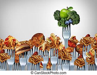 verdura, frutta, scelta