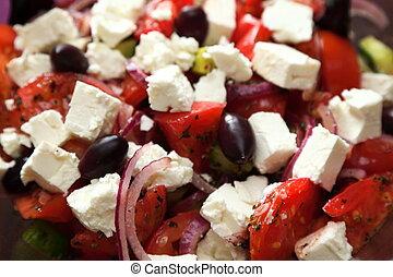 verdura, greco, insalata, fresco